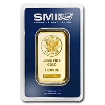 Picture of 1 oz Sunshine Mint Gold Bar