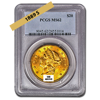 Picture of 1889S $20 Gold Liberty Double Eagle Coin MS62
