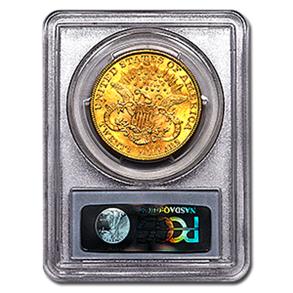 Picture of 1896S $20 Gold Liberty Double Eagle Coin MS63