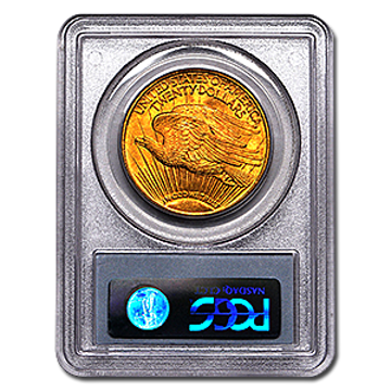 Picture of 1908DWM $20 Gold Saint Gaudens Double Eagle Coin MS65
