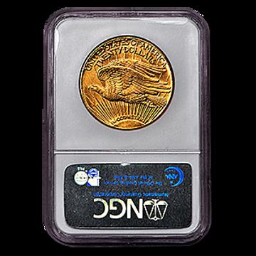 Picture of 1911D/D $20 Gold Saint Gaudens Double Eagle Coin MS62