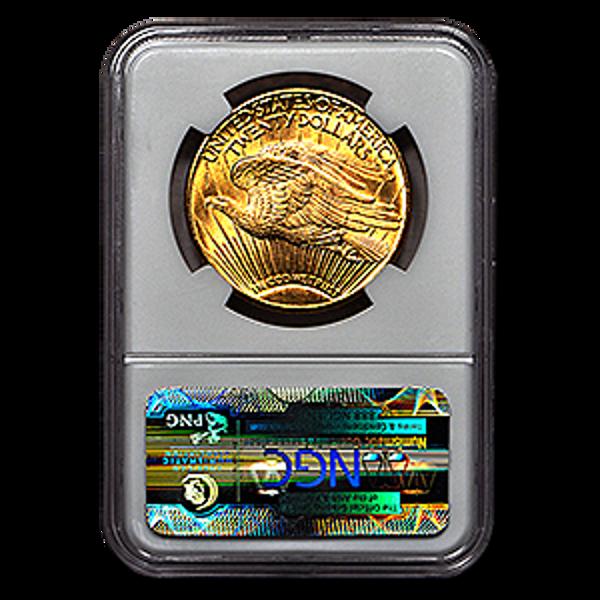 Picture of 1911D/D $20 Gold Saint Gaudens Double Eagle Coin MS63