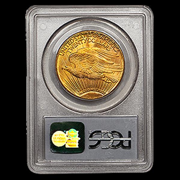 Picture of 1911D/D $20 Gold Saint Gaudens Double Eagle Coin MS66