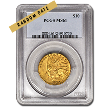 Picture of $10 Indian Head Gold Coins MS 61