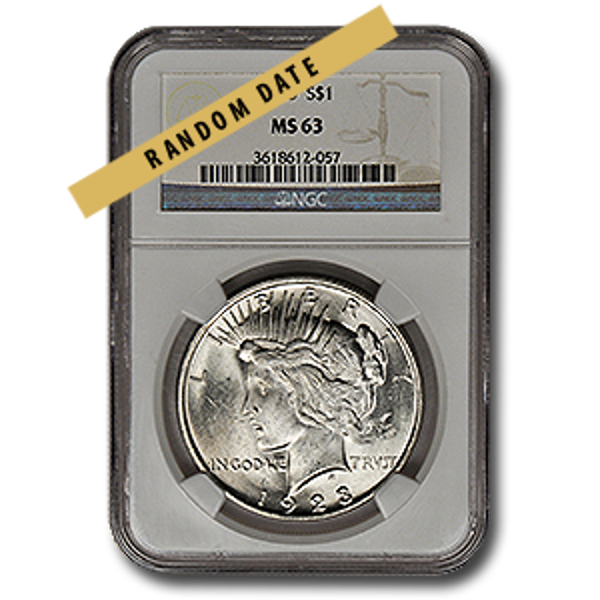 Picture of Peace Silver Dollar MS63