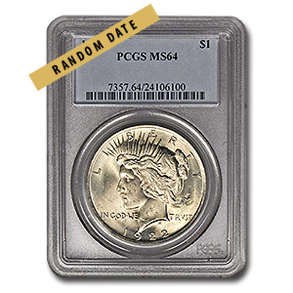 Picture of Peace Silver Dollar MS64