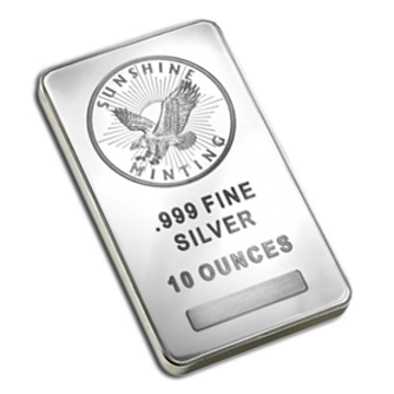 Picture of 10 oz Sunshine Mint Silver Bar