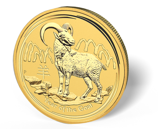 Picture of 2015 1/20 oz Australian Gold Goat