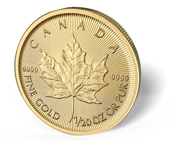 Picture of 1/20 oz Canadian Gold Maple Leaf 2016