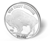 Picture of 1/10 oz Buffalo Silver Rounds Fractional
