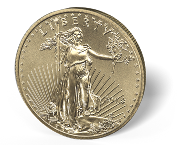 Picture of 1/4 oz American Gold Eagle (Common Date)