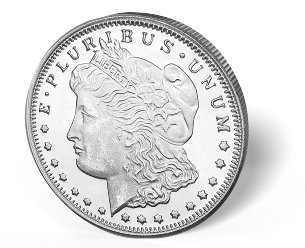 Picture of 1/4 oz Morgan Silver Rounds Fractional