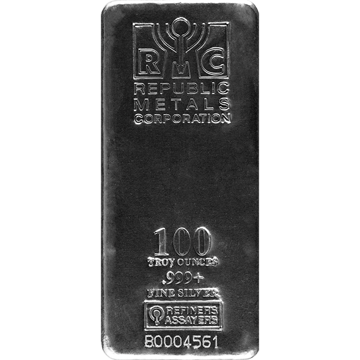 Picture of 100 oz IRA-RSP Silver Bar