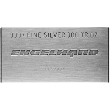 Picture of 100 oz Engelhard Silver Bar