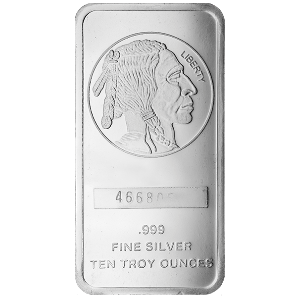 Picture of 10 oz Buffalo Silver Bar