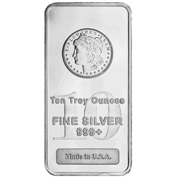 Picture of 10 oz Morgan  Silver Bar
