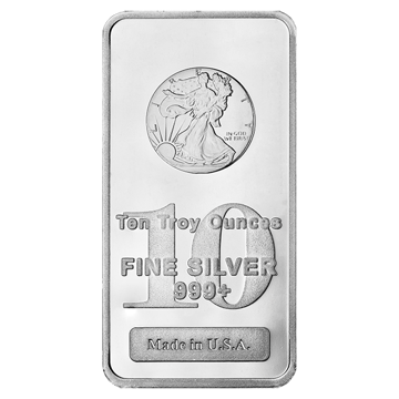 Picture of 10 oz Walking Liberty Silver Bar