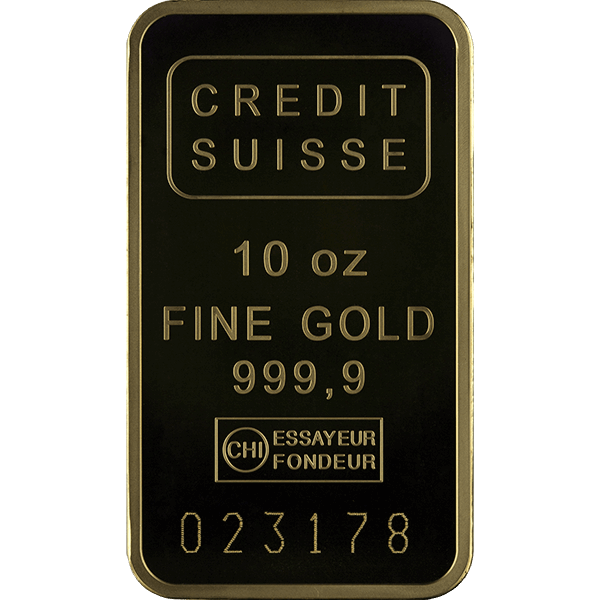 Picture of 10 oz Credit Suisse Gold Bar