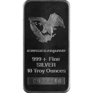 Picture of 10 oz Engelhard Silver Bar
