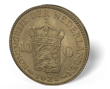 Picture of Netherlands Gold 10 Guilders*