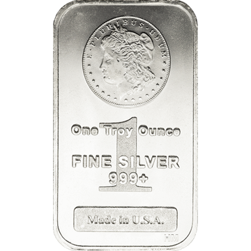 Picture of 1 oz Morgan Silver Bar