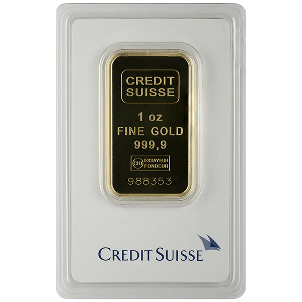 Picture of 1 oz Credit Suisse Gold Bar