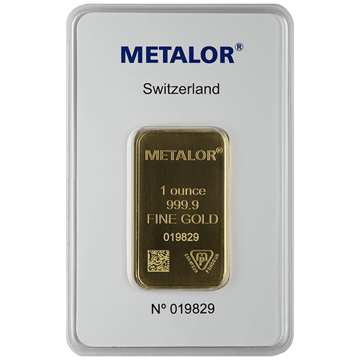 Picture of 1 oz LBMA- Approved Brand Gold Bar