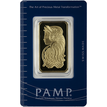 Picture of 1 oz Pamp Gold Bar - Our Choice