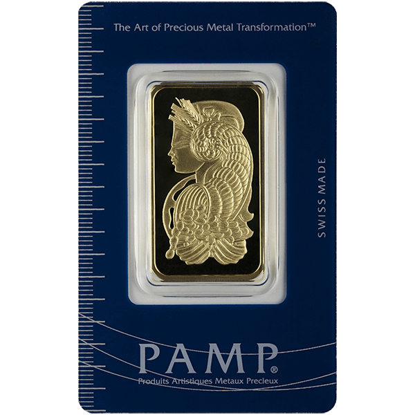 Picture of 1 oz Pamp Fortuna Gold Bar
