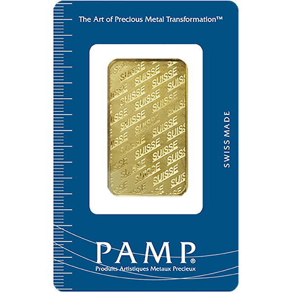 Picture of 1 oz Pamp Non-Fortuna Gold Bar