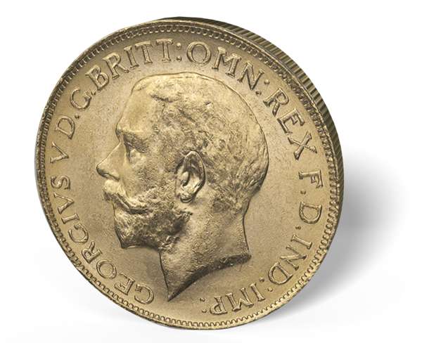 Picture of English Gold Sovereign King - BU