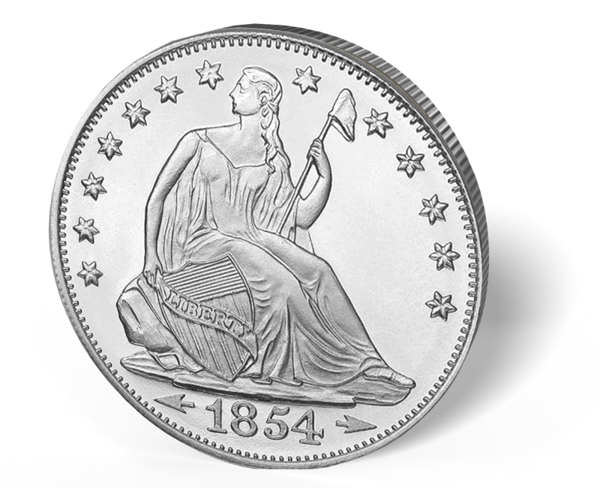 Picture of 1 oz Seated LibertySilver Rounds