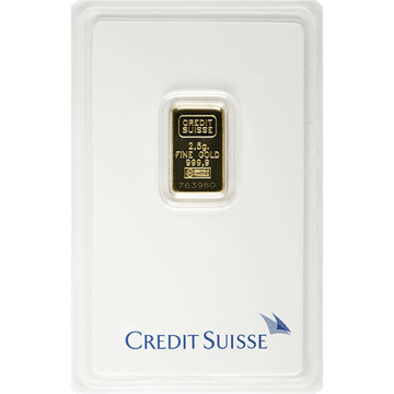 Picture of 2.5 Gram Credit Suisse Gold Bar