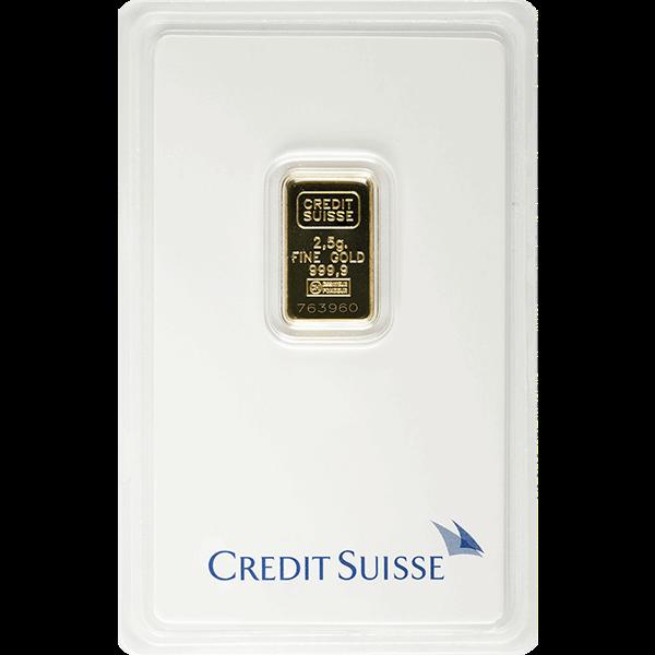 Picture of 2.5 Gram Credit Suisse Gold Bar