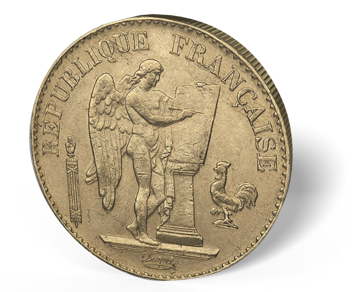 Picture of France Gold 20 Franc Angel