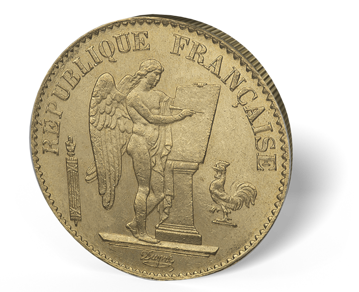 Picture of France Gold 20 Franc Angel - BU
