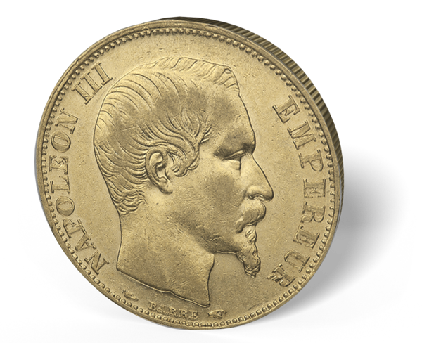 Picture of France Gold 20 Franc Napoleon III*