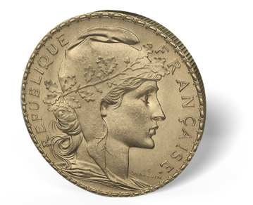 Picture of France Gold 20 Franc Rooster