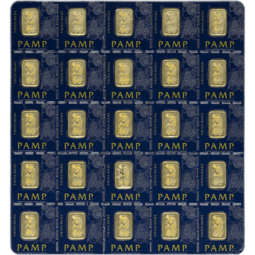 Picture of 25 Gram Pamp Multi Gram Gold Bar