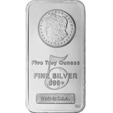 Picture of 5 oz Morgan  Silver Bar