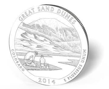 Picture of 5 oz Silver America the Beautiful - Great Sand Dunes National Park