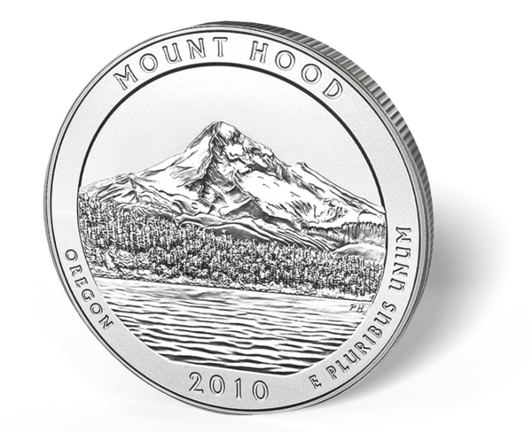 Picture of 5 oz Silver America the Beautiful - Mount Hood National Park