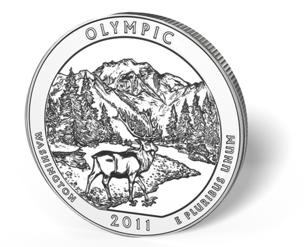Picture of 5 oz Silver America the Beautiful - Olympic National Park