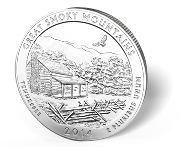 Picture of 5 oz Silver America the Beautiful - Great Smokey's National Park