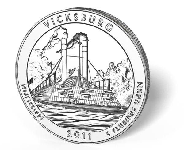 Picture of 5 oz Silver America the Beautiful - Vicksburg National Park