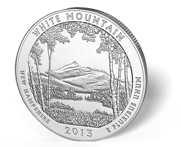 Picture of 5 oz Silver America the Beautiful - White Mountains National Park