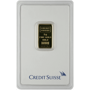 Picture of 5 Gram Credit Suisse Gold Bar