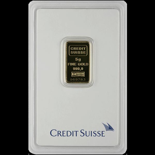 Picture of 5 Gram Credit Suisse Gold Bar