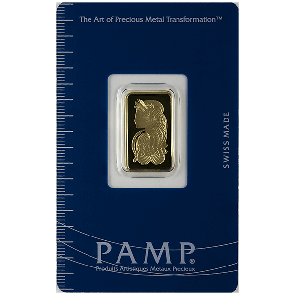 Picture of 5 Gram Pamp Gold Bar