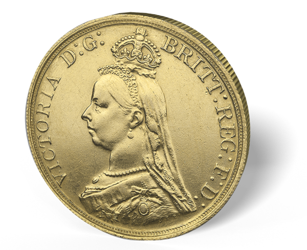 Picture of English Gold 5 Pount Sovereign